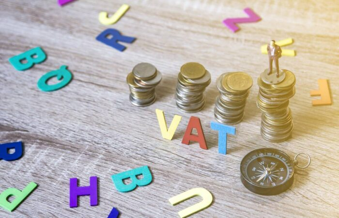 vat loan bill with coins